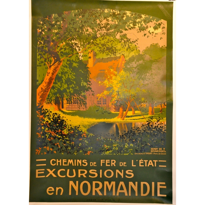 Pleasure trip in Normandie (Yport) Original and vintage poster Elbé Paris France