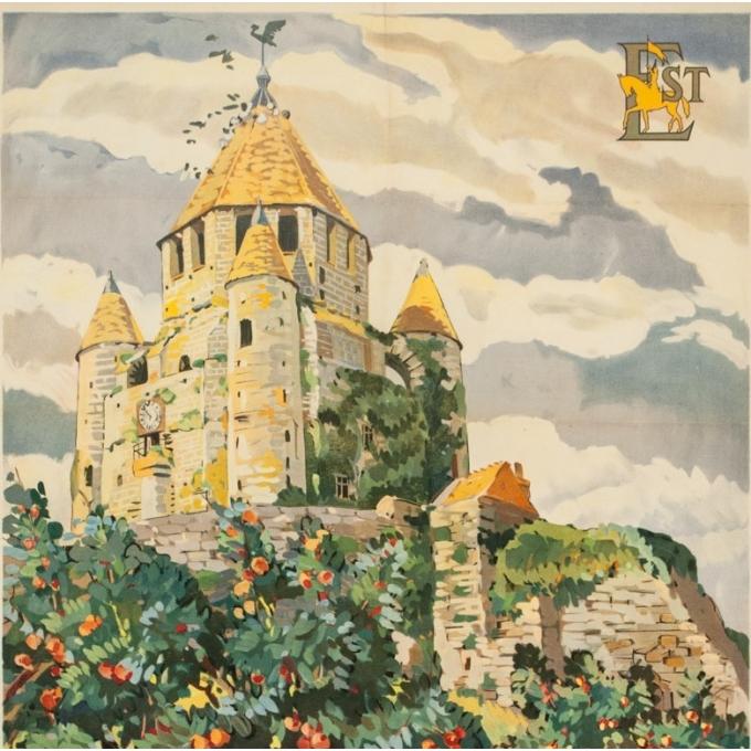 Vintage travel poster - Yvon Jean Haffen - 1920 - Provins La Tour de Cézar France - 39.4 by 24.4 inches - View 2