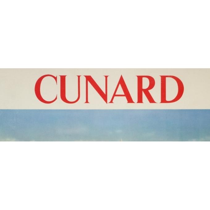 Affiche ancienne de voyage - anonyme - 1950- Cunard Etats-Unis Canada - 120 par 63.5 cm - vue 2