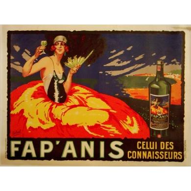 Affiche ancienne publicitaire FAP'ANIS