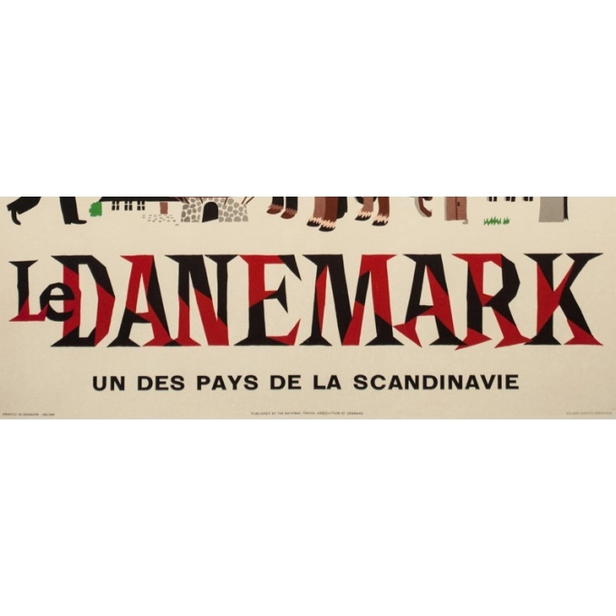 Vintage travel poster - Laus laum - 1952 - Danemark pays des nuits claires - 39.4 by 24.6 inches - View 3