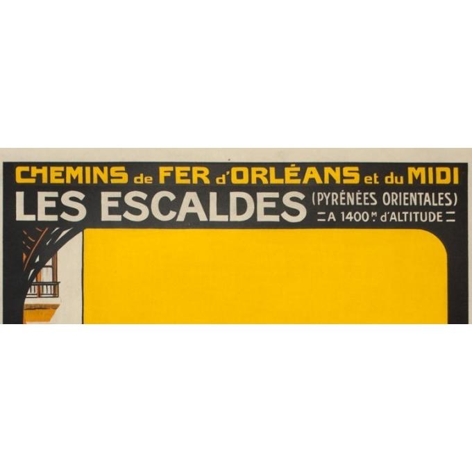Vintage travel poster - Roger Soubie - 1930 - Escaldes-Pyrénées orientales - 41.3 by 29.5 inches - View 2