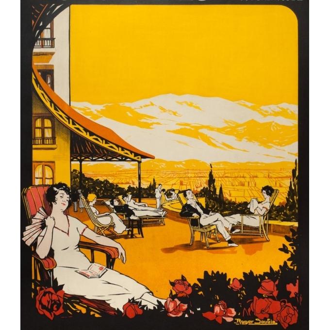 Vintage travel poster - Roger Soubie - 1930 - Escaldes-Pyrénées orientales - 41.3 by 29.5 inches - View 3