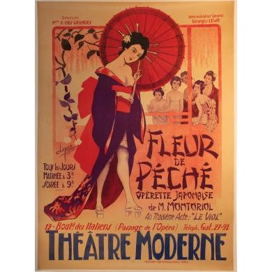 affiche originale Fleur de peche opérette japonaise fleur de peche