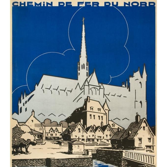 Affiche ancienne de voyage - Ringard - 1929- Amiens - 104.5 par 73.5 cm - 2