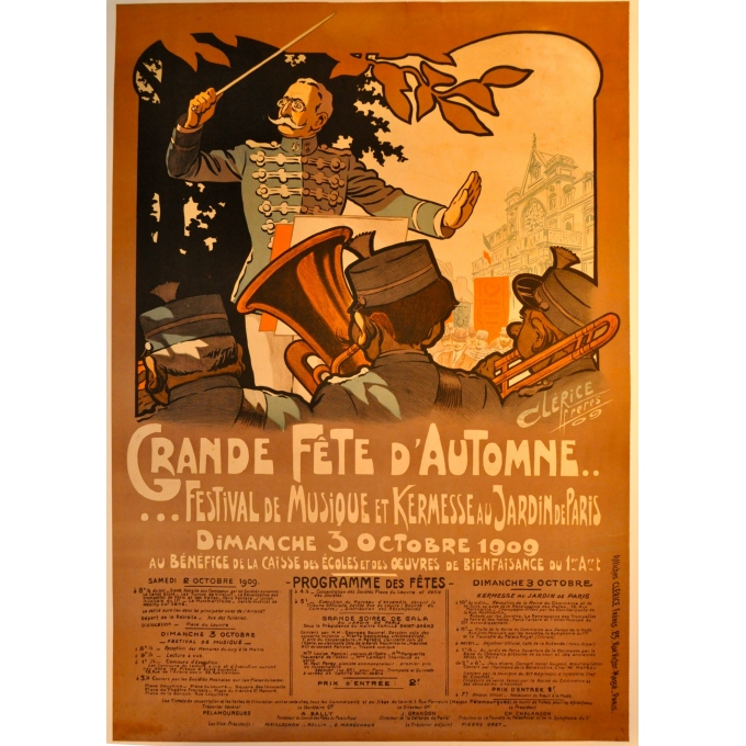 Original poster Autumn big party, Clarice, 1909