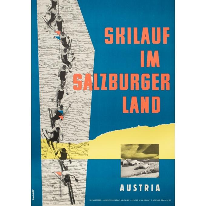 Affiche ancienne de voyage - Wallnöfer - 1960- Salsbourg-Autriche - 84 par 59 cm