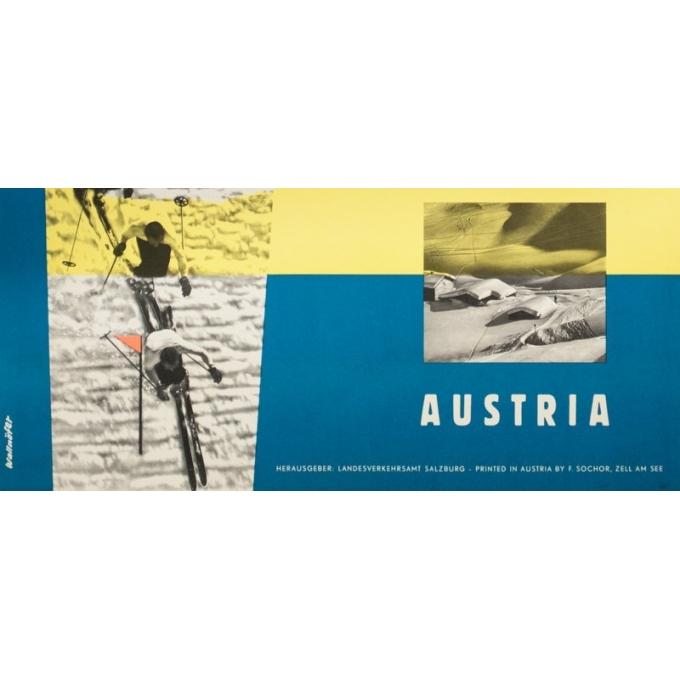 Affiche ancienne de voyage - Wallnöfer - 1960- Salsbourg-Autriche - 84 par 59 cm - 2