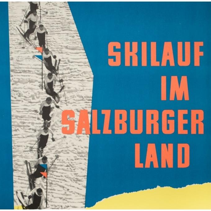 Affiche ancienne de voyage - Wallnöfer - 1960- Salsbourg-Autriche - 84 par 59 cm - 3
