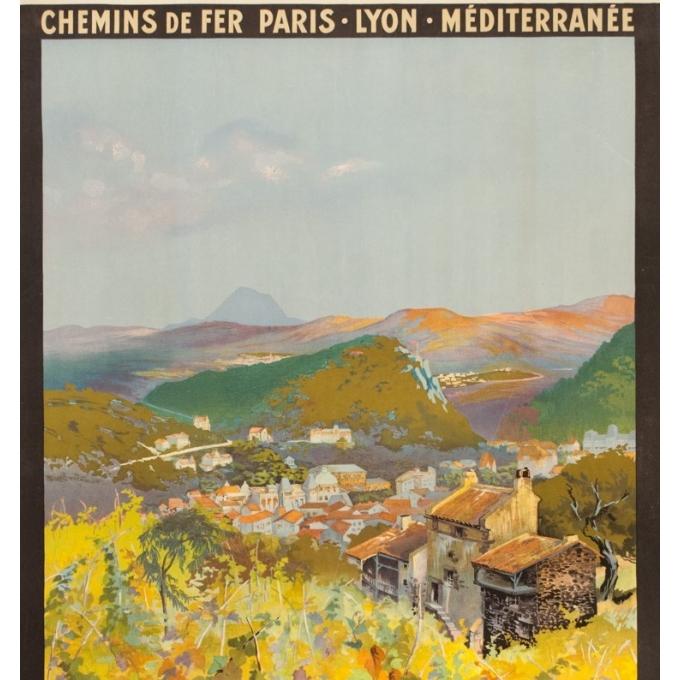 Affiche ancienne de voyage - Julien Lacaze - Ca 1910 - Chatel Guyon - 107 par 77.5 cm - 2