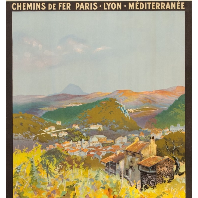 Vintage travel poster - Julien Lacaze - 1910  - Chatel Guyon France PLM - 42.1 by 30.5 inches - 2