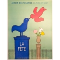 La fête Savignac original french vintage poster, Paris