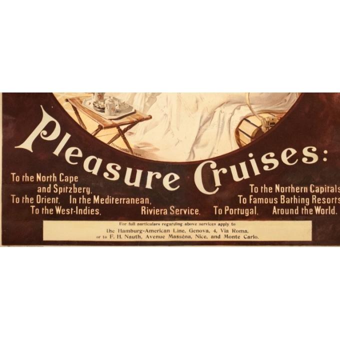 Affiche ancienne de voyage - Felix Schwormstadt - 1900- Hambourg-amerika-linie - 105.5 par 68.5 cm - 4