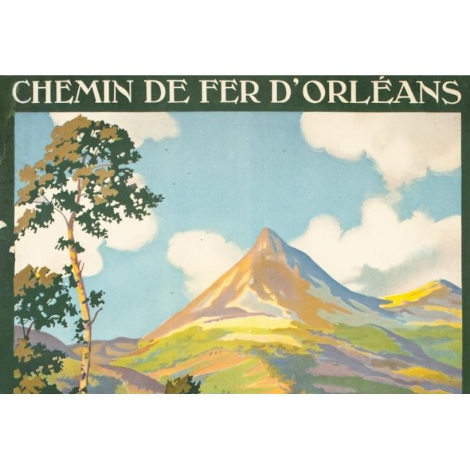 Affiche ancienne de voyage - Constant Duval - 1930- Le puy Grillou - 99 par 61 cm - 2