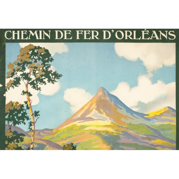 Vintage travel poster - Constant Duval - 1930 - Le puy Grillou - 39 by 24 inches - 2