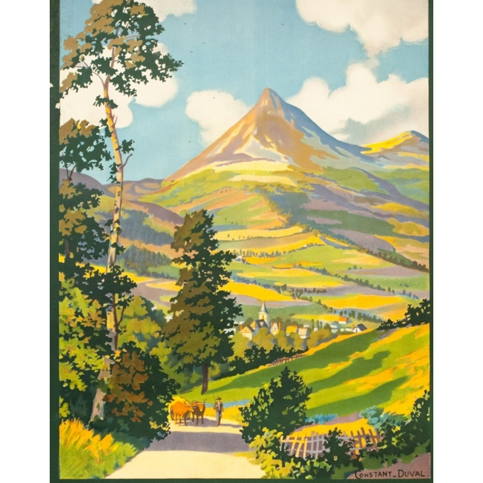 Vintage travel poster - Constant Duval - 1930 - Le puy Grillou - 39 by 24 inches - 3