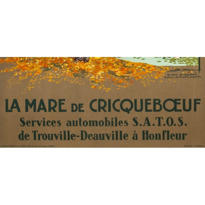 Affiche ancienne de voyage - Geo Dorival  - 1925 - La Marre de crique boeuf- 100 par 62 cm - 3
