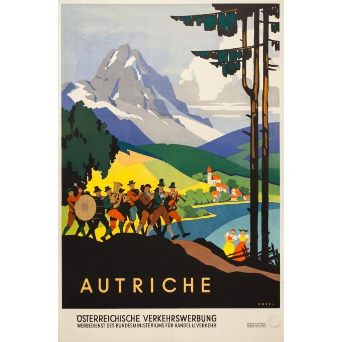 Affiche ancienne de voyage - Das kleeblatt - 1950 - Autriche - 95 par 63.5 cm