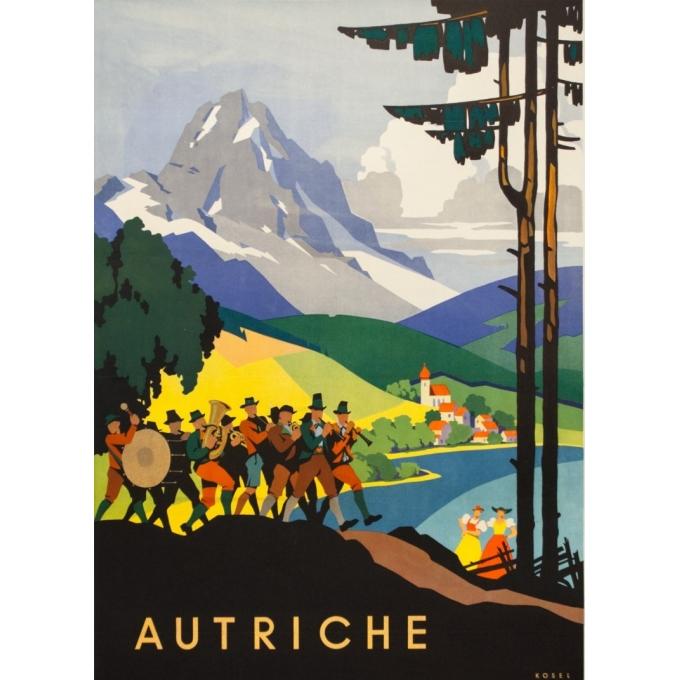 Affiche ancienne de voyage - Das kleeblatt - 1950 - Autriche - 95 par 63.5 cm - 2