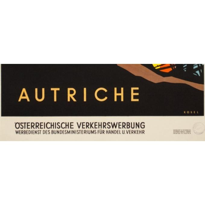 Affiche ancienne de voyage - Das kleeblatt - 1950 - Autriche - 95 par 63.5 cm - 3