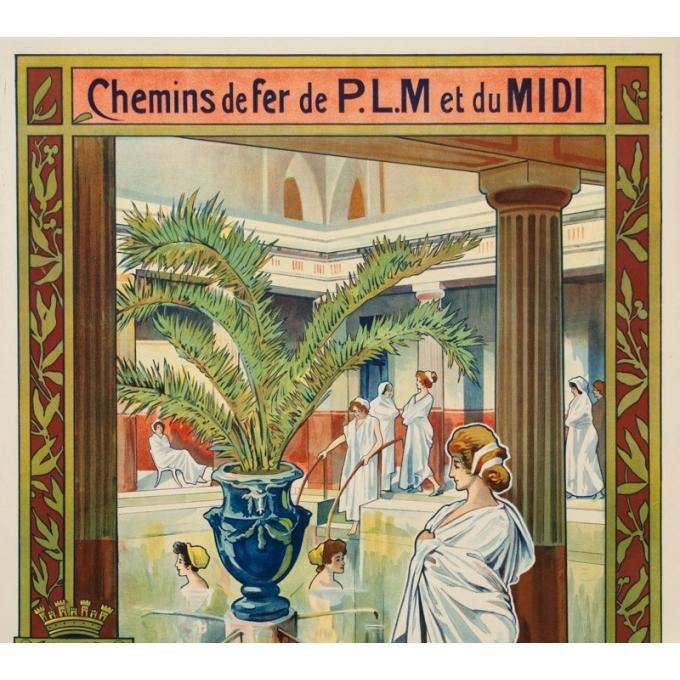 Affiche ancienne de voyage - Trinquier Trianon - 1905 - Lamalou les bains - 105 par 73.5 cm - 3