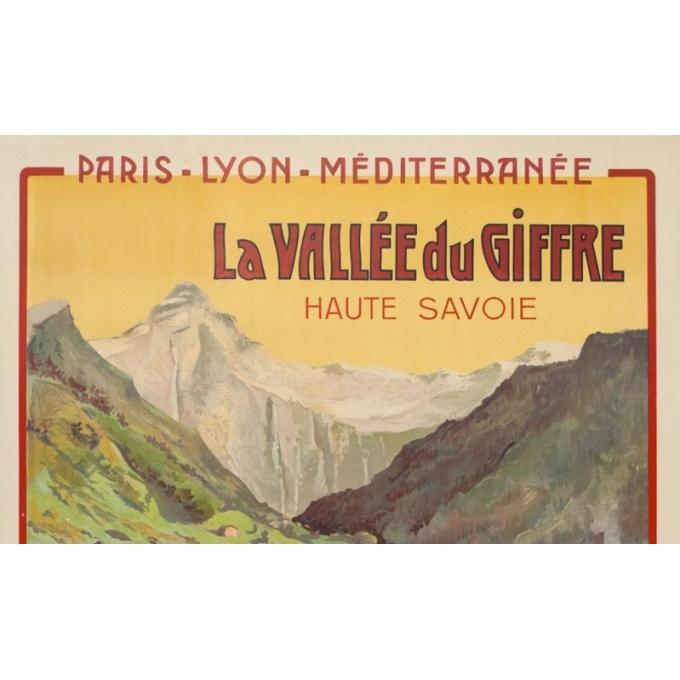 Affiche ancienne de voyage - Henri Polart - 1908 - PLM - La vallée du Giffre - 107 par 77 cm - 2