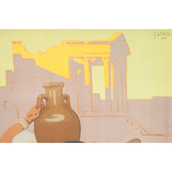Affiche ancienne de voyage - Joseph de la Nézière - 1929- Douggas- Visitez la Tunisie - 100 par 63 cm - 2