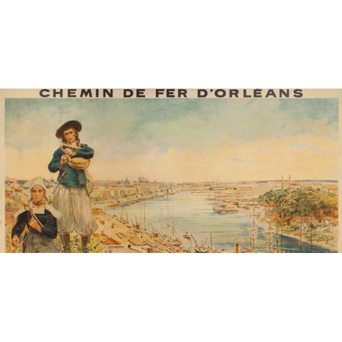 Affiche ancienne de voyage - toilpot - 1904- Bretagne-Nantes - 107 par 74 cm - 3