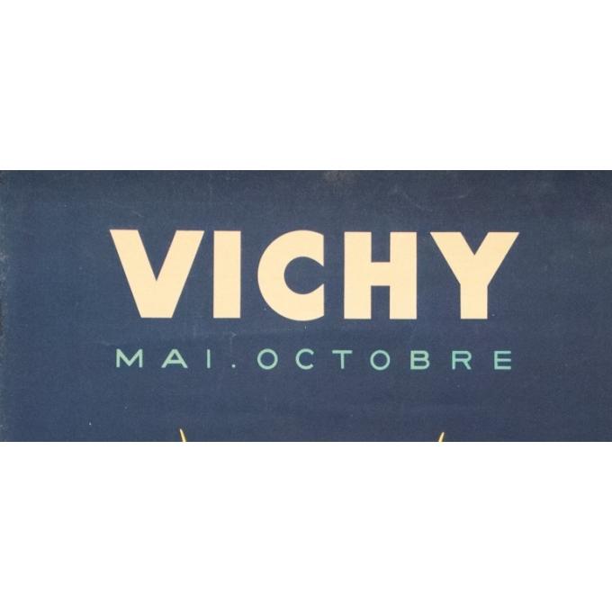 Affiche ancienne de voyage - Paul Colin - 1950 - Vichy - 100 par 62.5 cm - 2
