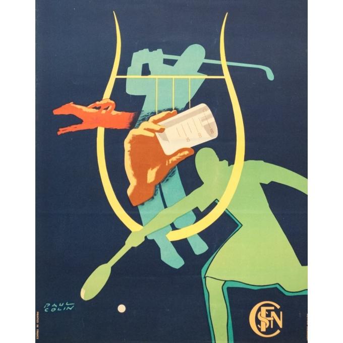 Affiche ancienne de voyage - Paul Colin - 1950 - Vichy - 100 par 62.5 cm - 3