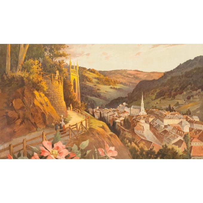 Affiche ancienne de voyage - Hugo d'Alési - 1900- Plombière les bains - 114.5 par 83 cm - 3