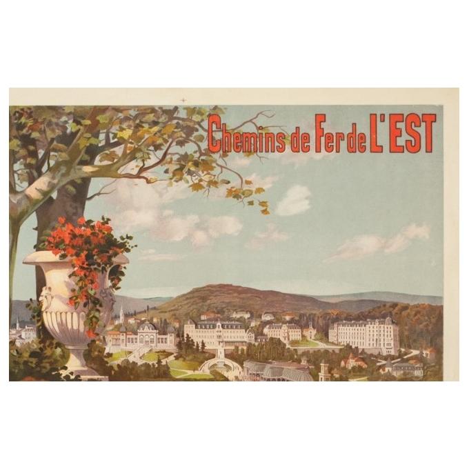 Affiche ancienne de voyage - Hugo d'Alési - 1900 - Vitel - Les Vosges - 114.5 par 81.5 cm - 2