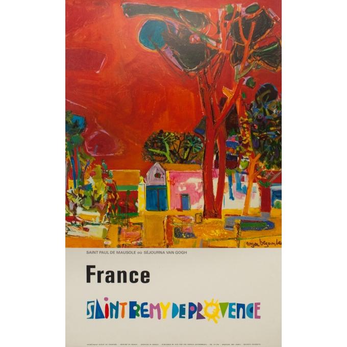 Affiche ancienne de voyage - Rogers Bozombes - 1948 - Saint Rémi de Provence - 106 par 69.5 cm