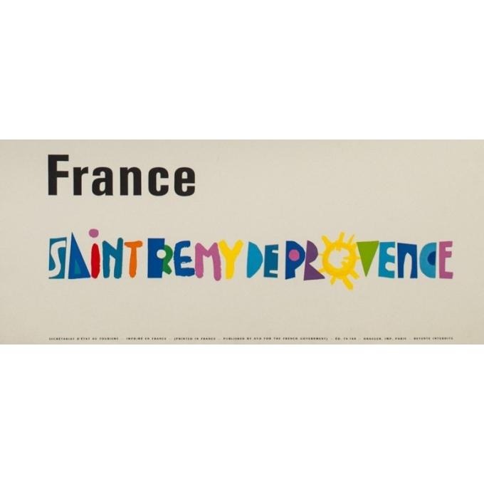 Affiche ancienne de voyage - Rogers Bozombes - 1948 - Saint Rémi de Provence - 106 par 69.5 cm - 3