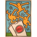 Lucky strike original poster from Harring 1987. Elbé Paris.