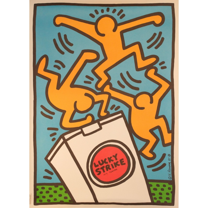 Affiche originale Lucky Strike Harring 1987