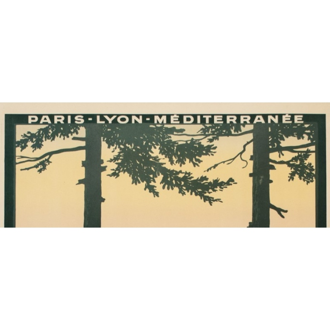 Vintage travel poster - Dorival - 1913 - Aix les Bains - 42.3 by 30.7 inches - 2