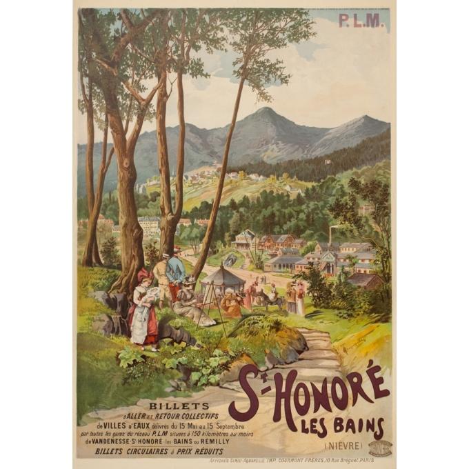 Vintage travel poster - Tanconville - 1900 - Saint Honoré les Bains - 41.3 by 31.9 inches