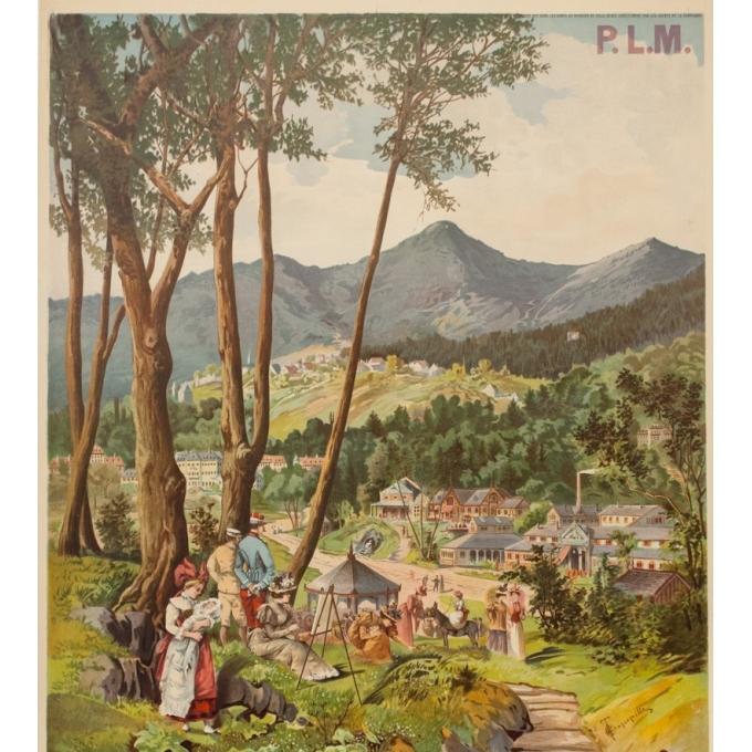 Vintage travel poster - Tanconville - 1900 - Saint Honoré les Bains - 41.3 by 31.9 inches - 3