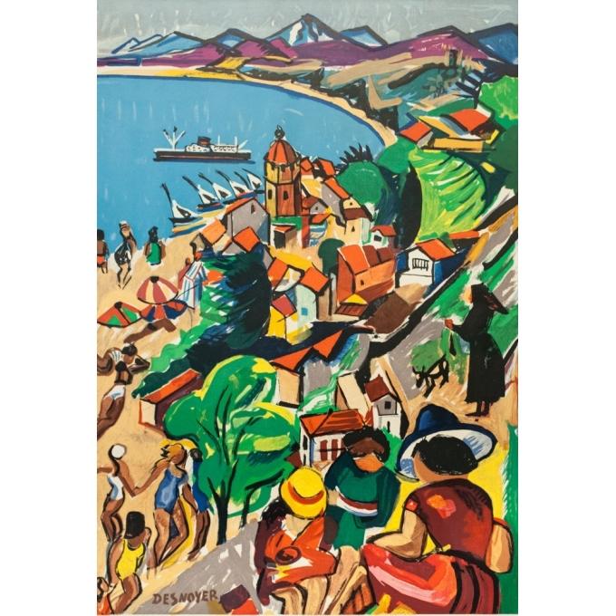 Affiche ancienne de voyage - Desnoyer - 1932- Roussillon - SNCF - 106 par 68.2 cm - 2