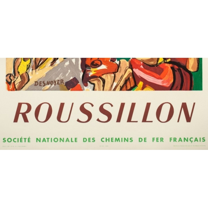 Vintage travel poster - Desnoyer - 1932 - Roussillon - 41.7 by 26.9 inches -3