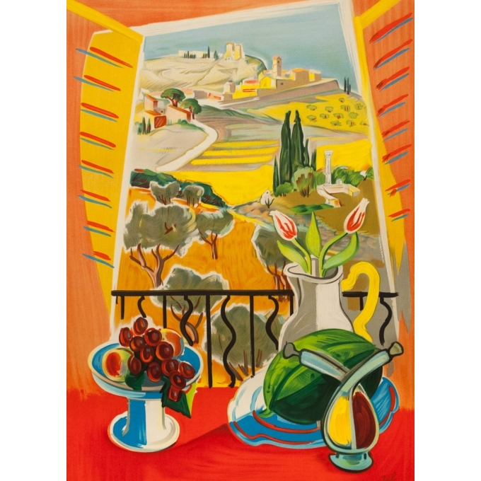 Vintage travel poster - Jal - 1959 - Provence SNCF - 39.2 by 24.4 inches - 2