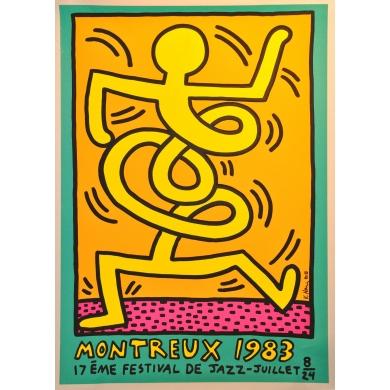 Affiche Montreux 1983 17ème festival de jazz. Elbé Paris.