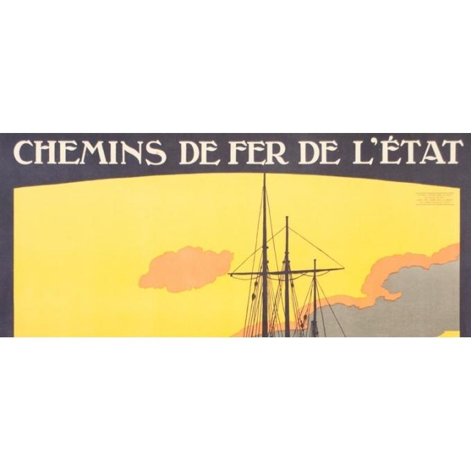 Affiche ancienne de voyage - Constant Duval  - Circa 1910 - Roscoff Bretagne Pittoresque - 105 par 75.5 cm - 2