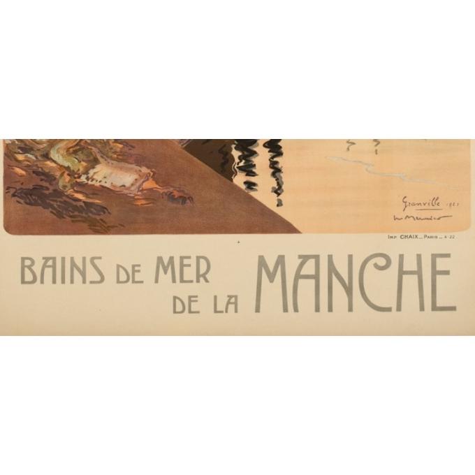 Affiche ancienne de voyage - Meunier - 1921 - Granville - 102.5 par 74 cm - 3