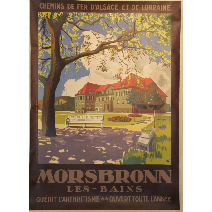 Original poster of Morsbronn les-bains eastern France. Elbé Paris.