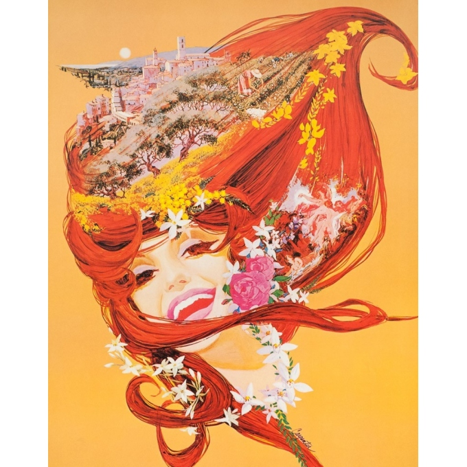 Vintage travel poster - Carpenta - Circa 1965 - Grasse - 36.8 by 23.2 inches -  2