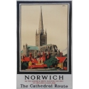 Norwich the cathedral route original poster. Elbé Paris.