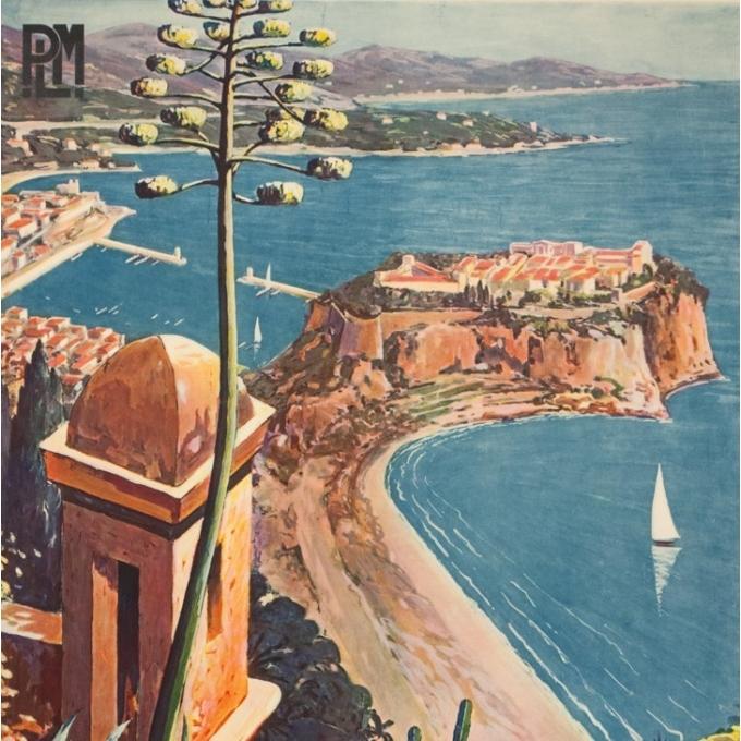 Affiche ancienne de voyage - E.Clérissi - Circa 1925 - Monaco PLM - 100 par 62 cm - 2
