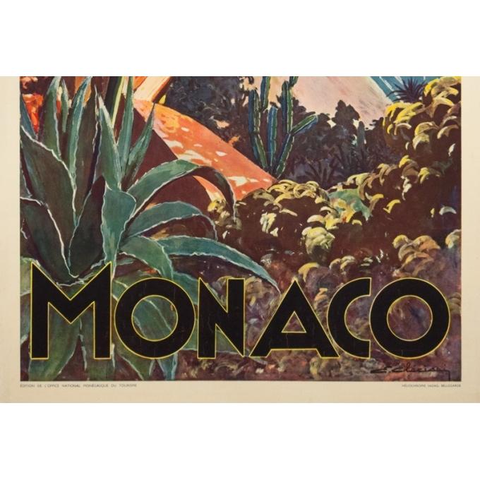 Affiche ancienne de voyage - E.Clérissi - Circa 1925 - Monaco PLM - 100 par 62 cm - 3